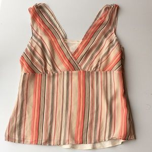 2 in 1 LOFT cami and sheer striped sleeveless top